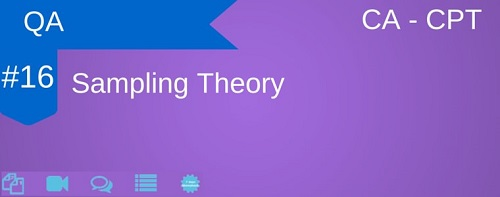 CA CPT QA Chapter Sampling Theory